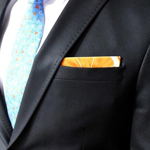 Wooden Pocket Square | Orange Slice