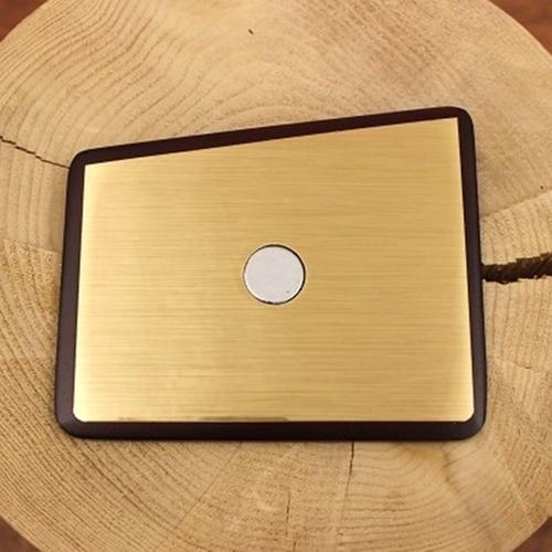 Wooden Pocket Square   Gold Member