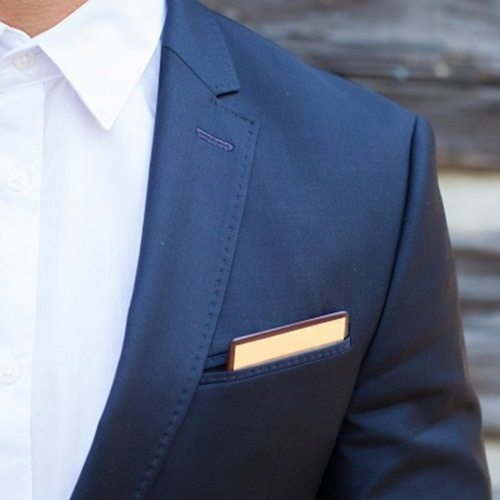 Wooden Pocket Square | Gold Member | Baffi | Rosewood