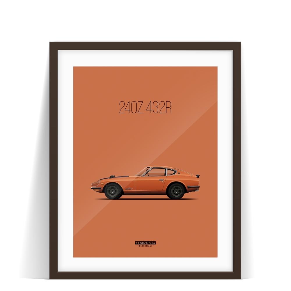 car prints, datsun, luxury car art