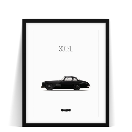 Mercedes 300SL Monochrome