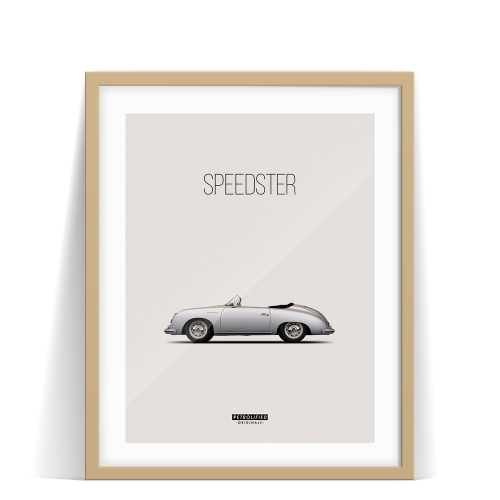 car prints, Porsche 356 Speedster, luxury car art