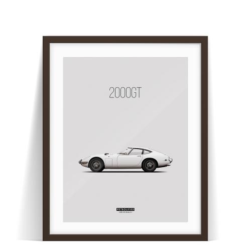 car prints, Toyota 2000GT, luxury car art
