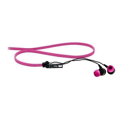 Zipper Earbuds, Pink