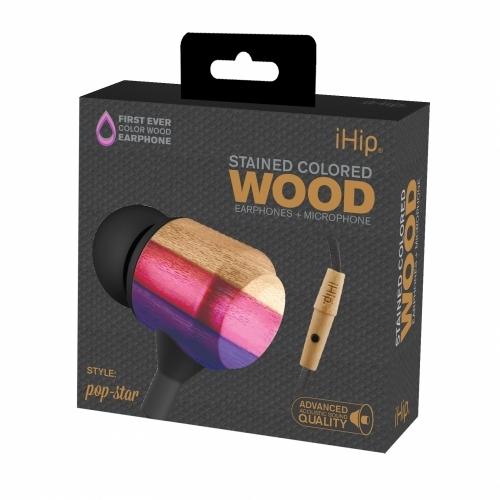 Pop Star Wood Earphone