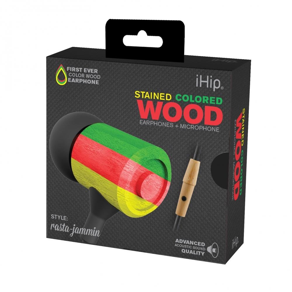 Rasta Jammin Wood Earphone, iHip