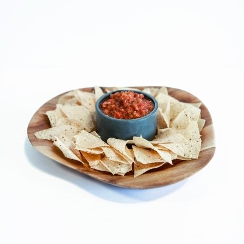 Acacia Chip/Dip Platter, Circle, Sparq Home