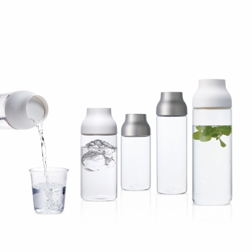 Capsule Water Carafe 0.7L, Stainless Steel, Kinto