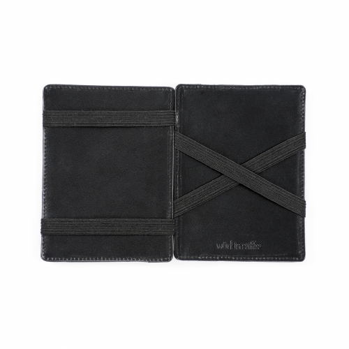 RFID Leather Carbon Magic Wallet