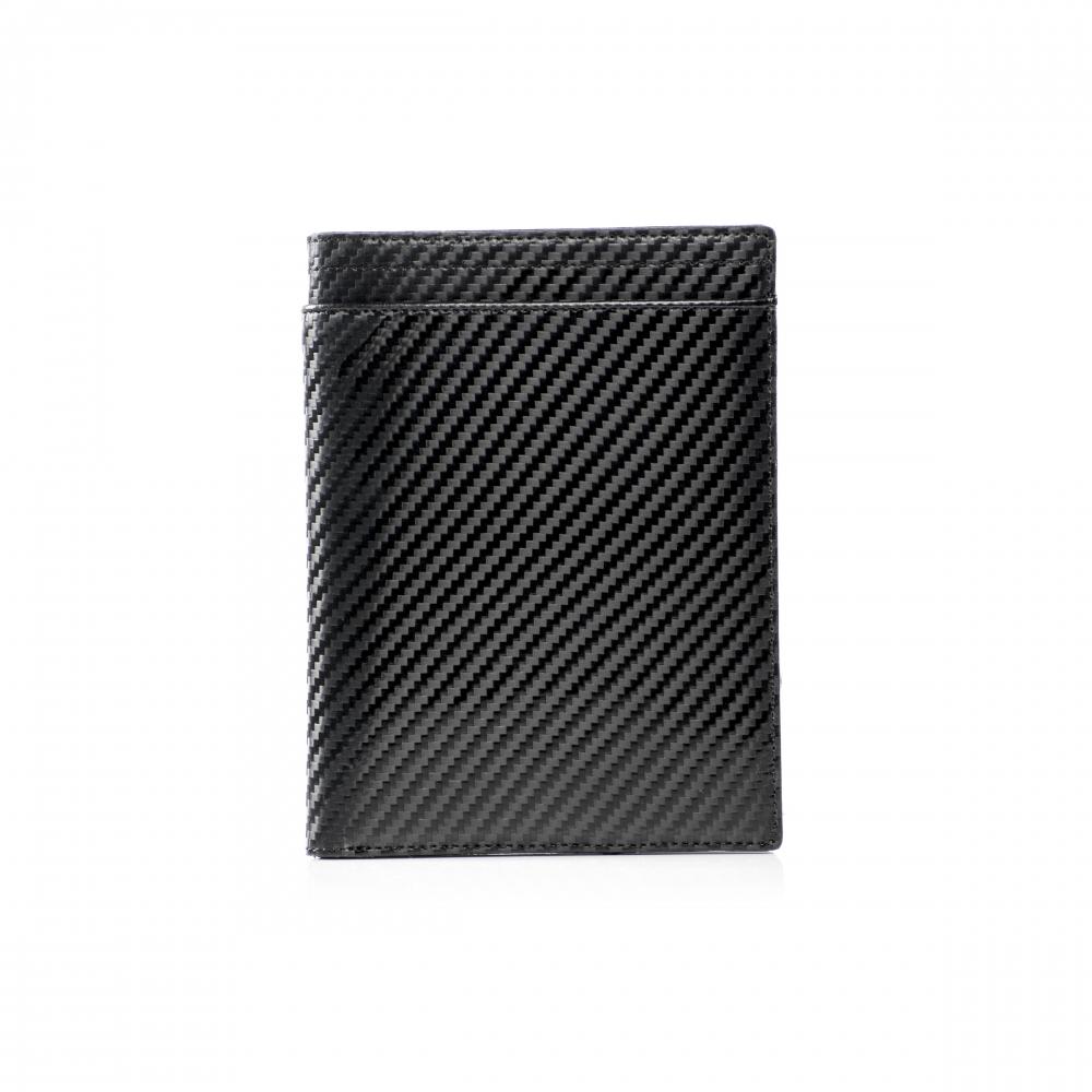 RFID Leather Carbon Passport Wallet