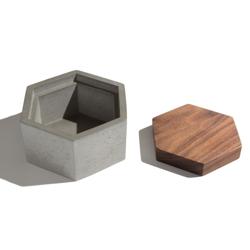 Hexagon Box, Grey
