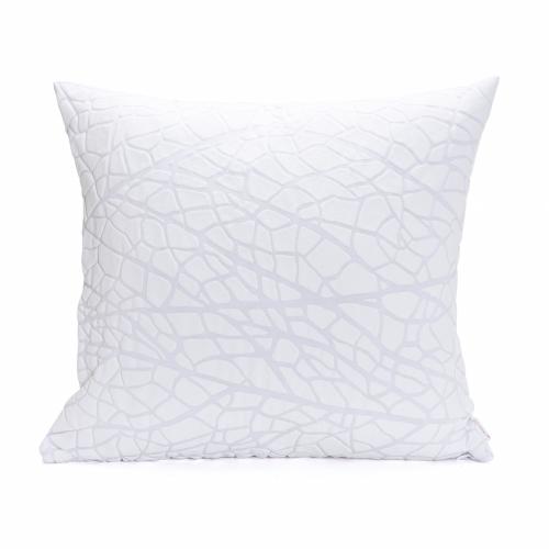 Vein Pillow Cover, White, Mikabarr