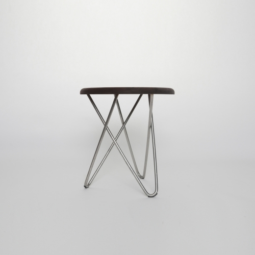 Delta Side Stool, Stainless Steel