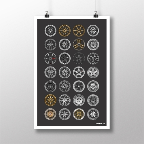 Modern Classic Wheels Print