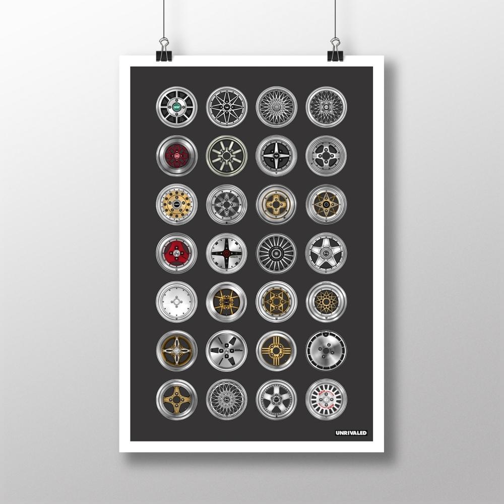 Vintage Wheels Print, Unrivaled
