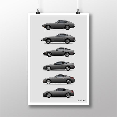 Nissan Z Generations Print