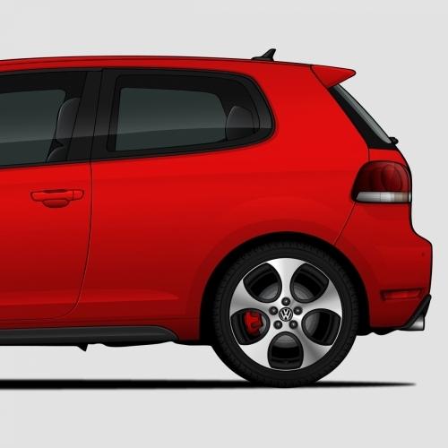 Volkswagen Golf GTI Generations Print, Unrivaled