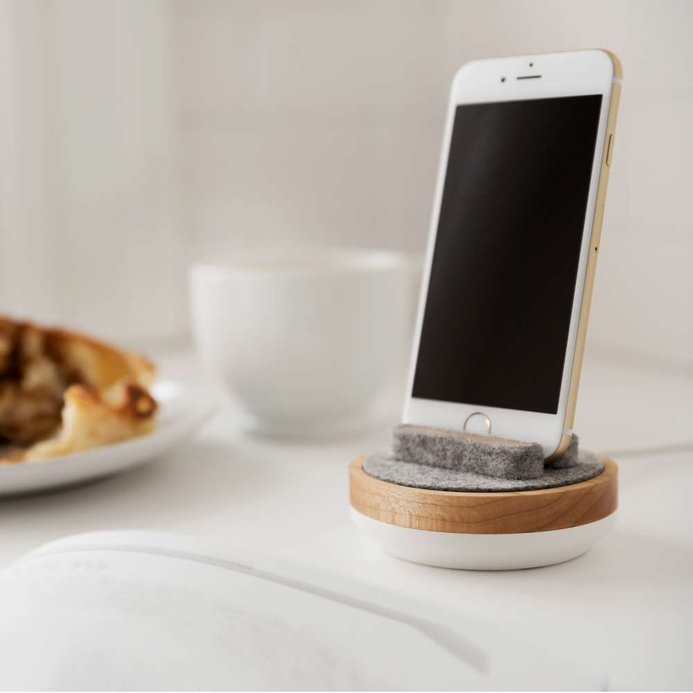 Quell & Company - White and Maple Spool Dock