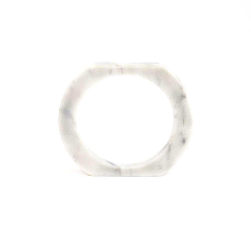 O Form-Bracelet No. 03 Marble White