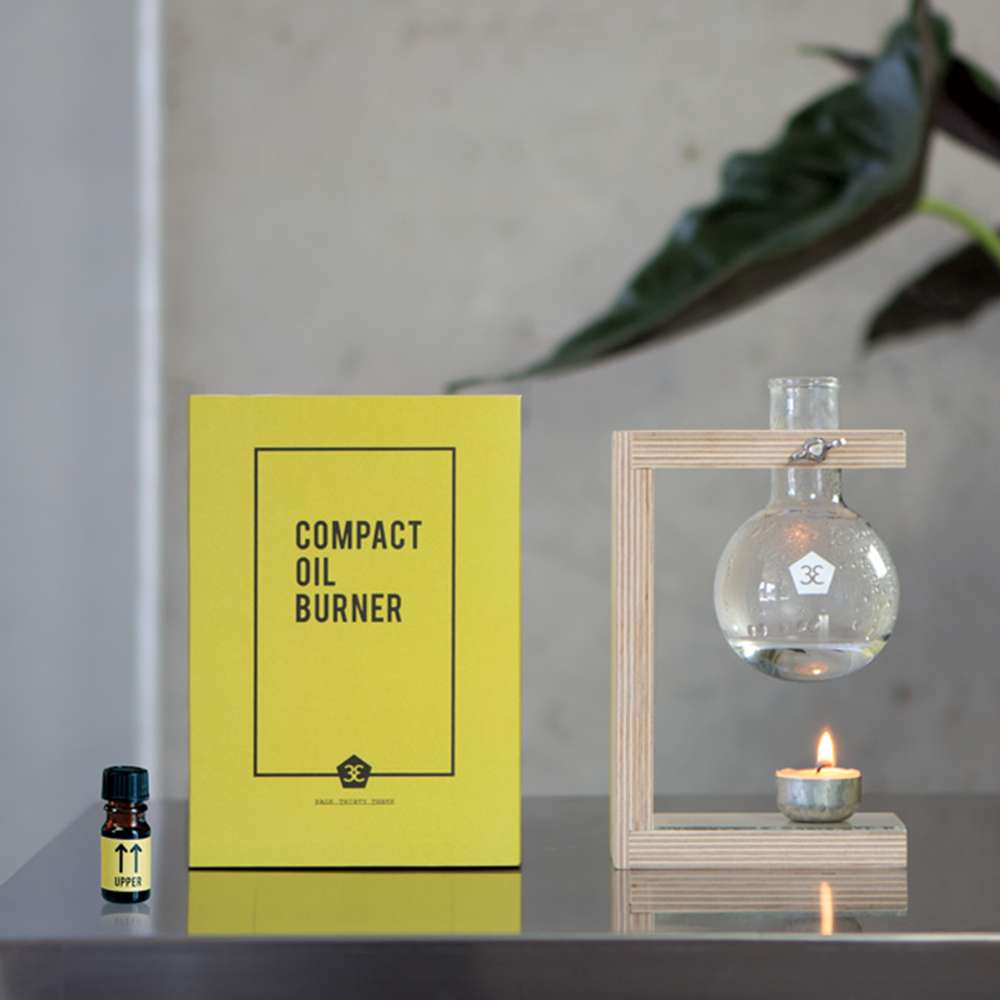 Compact Oil Burner - Sustainable Ethos and Minimal Aesthetic