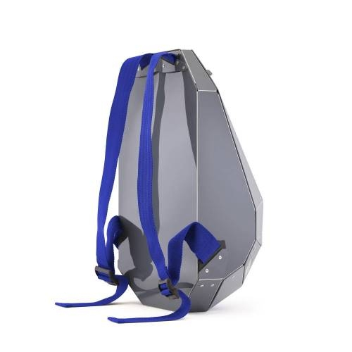 Solid Gray Backpack, Dark Gray - A Lightweight Backpack with a Unique Design