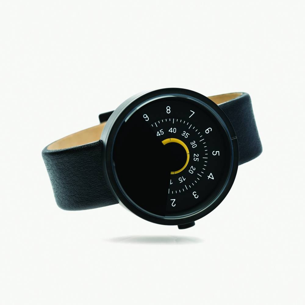 Series 000 Watch, Black & Yellow - A Fresh Take on Traditional Elegance