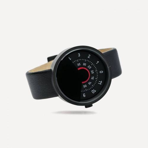 Series 000 Watch, Black & Red