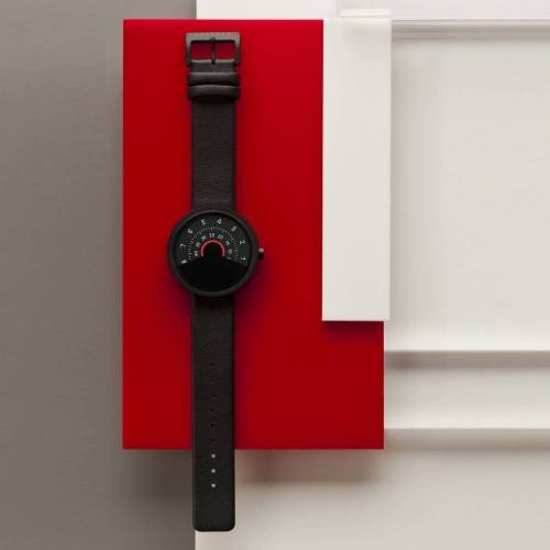 Series 000 Watch, Black & Red - A Fresh Take on Traditional Elegance