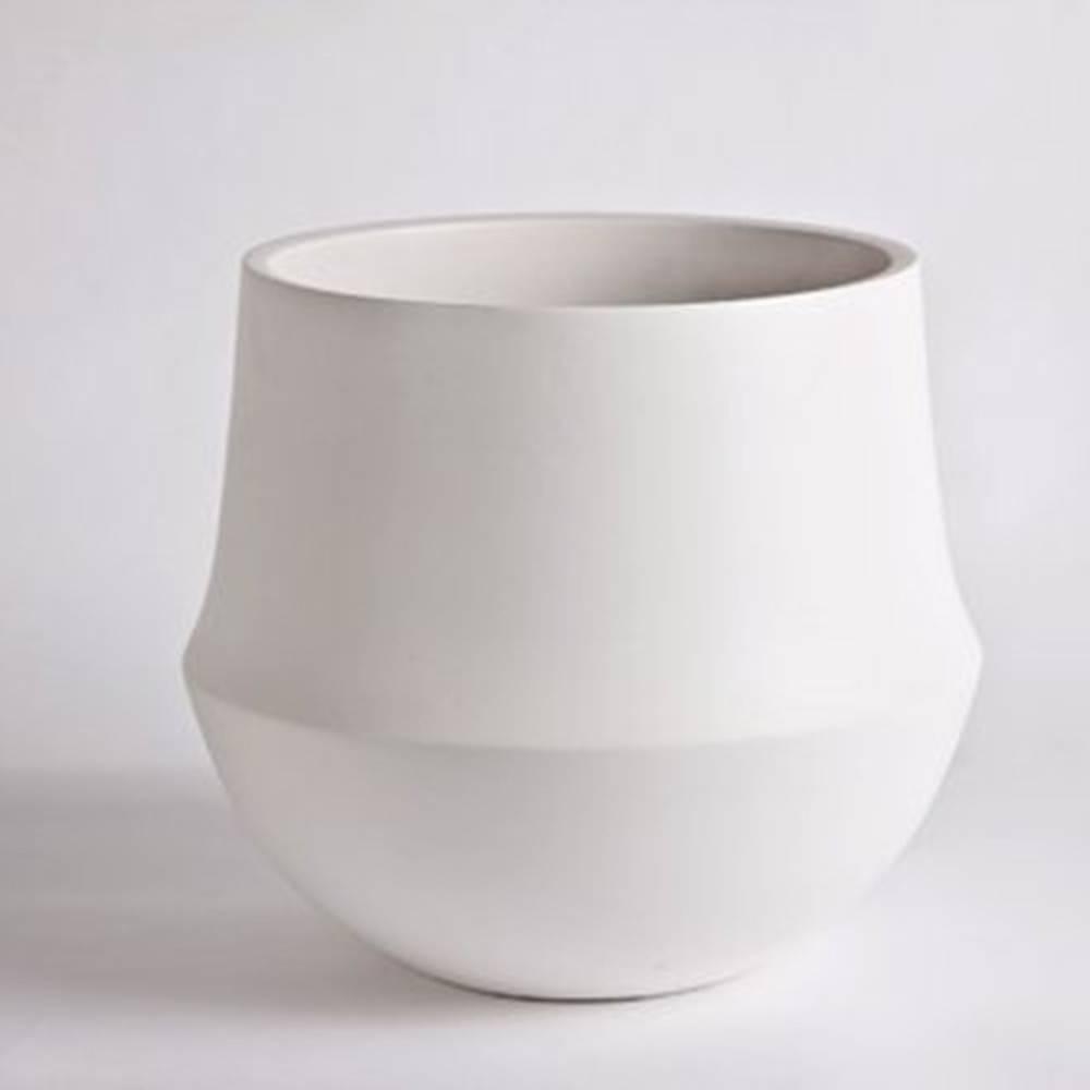 Fusion Flowerpot, White - Fine Matte Ceramic Pot
