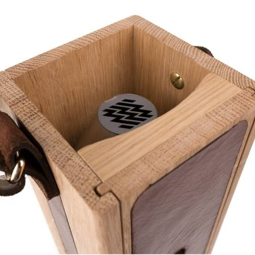 Hekkpipe Deluxe - Hookah Made with Quality Oak Wood Case and Fine Leather Details