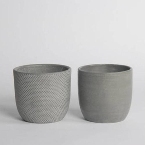 Micmac Pot Set of 2, Grey