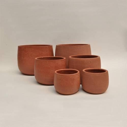 Micmac Pot Set of 3, Rust
