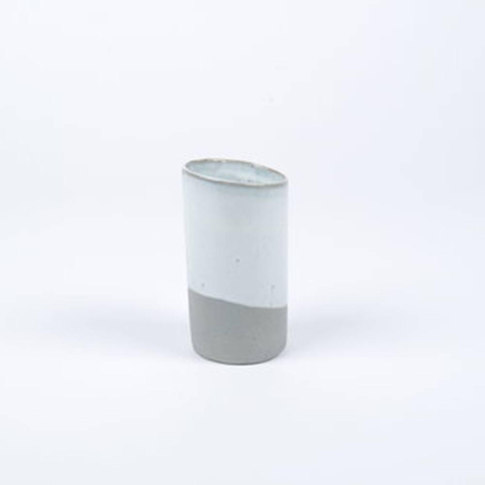 Slant Vase, Grey - Classy Ceramic Vase