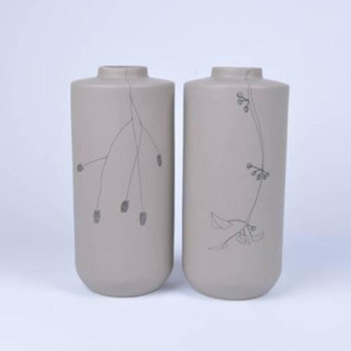 Flor Vase Set of 2, Taupe