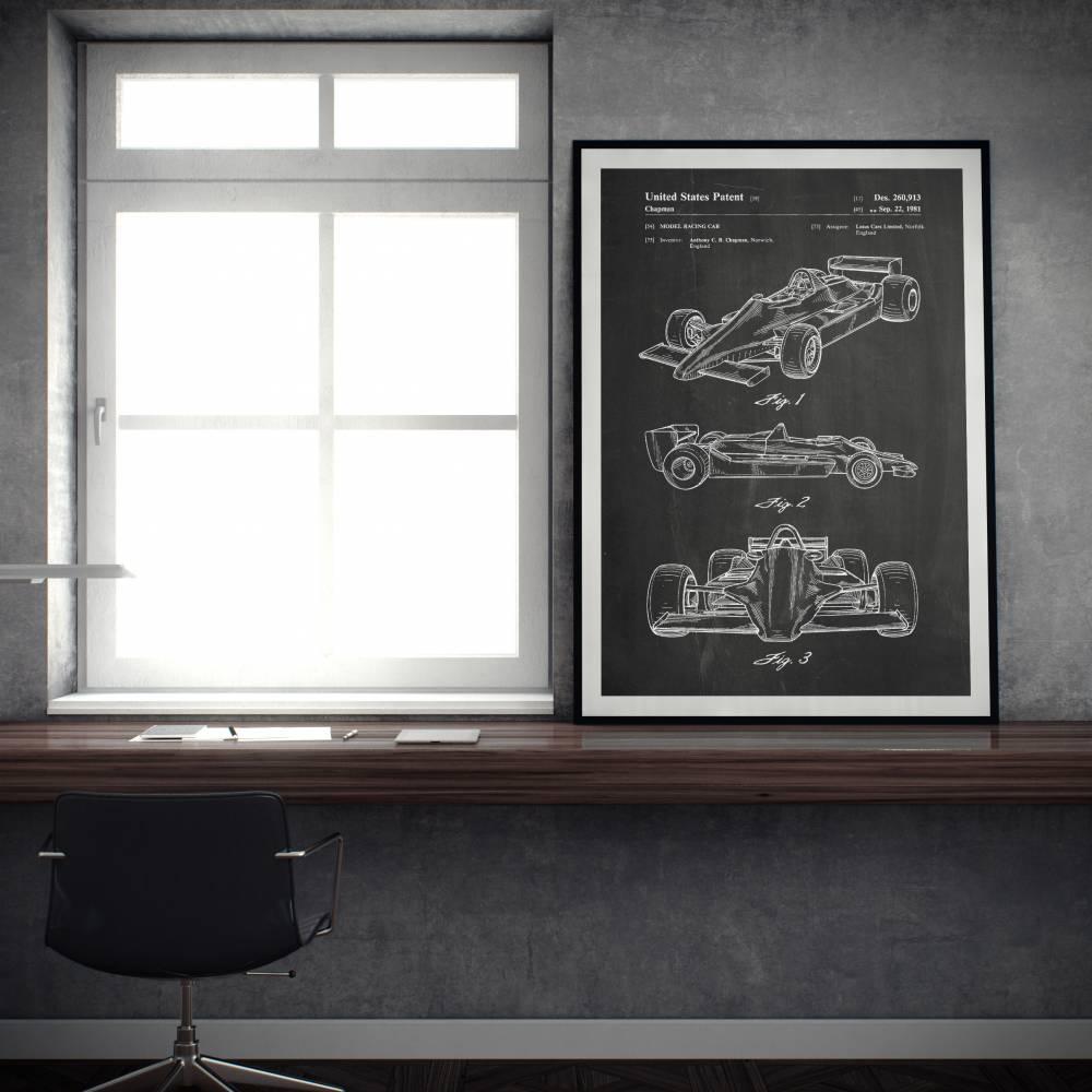 Formula 1 Car Patent Print - Patent Prints