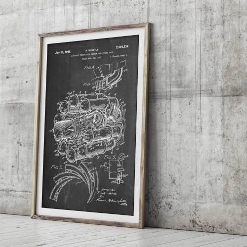 Jet Engine Patent Print