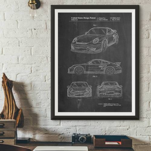 Porsche 2011 Model Patent Print