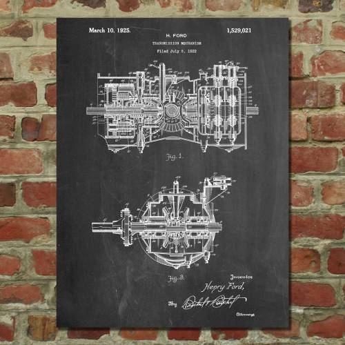 Transmission Mechanism Patent Print - Patent Prints