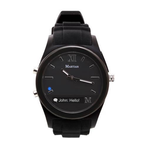Notifier Smartwatch in Black/Black