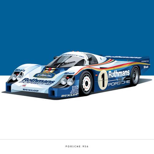 Porsche 956 Art Print