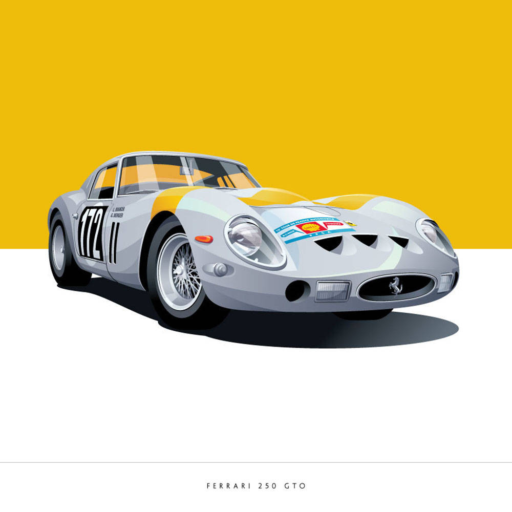 Ferrari 250 Art Print - Arthur Schening