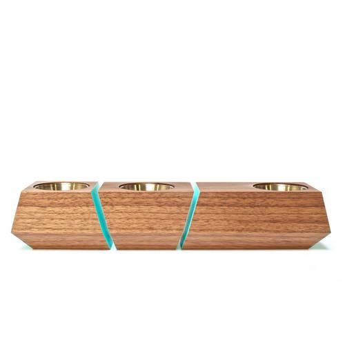 Boxcar Set Walnut & Blue - Revolution Design House