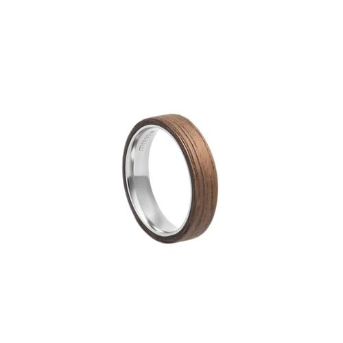 Mono Slim Walnut Ring