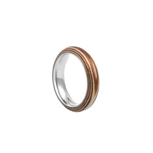 Duo Slim Sycamore + Mahogany Ring