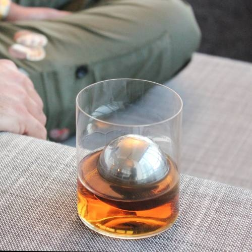 LoBall Whiskey Spheres   Large   Stainless Steel   SipDark