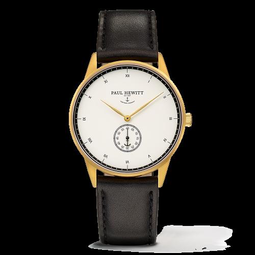 Mark I Leather Watch, White Ocean - Paul Hewitt