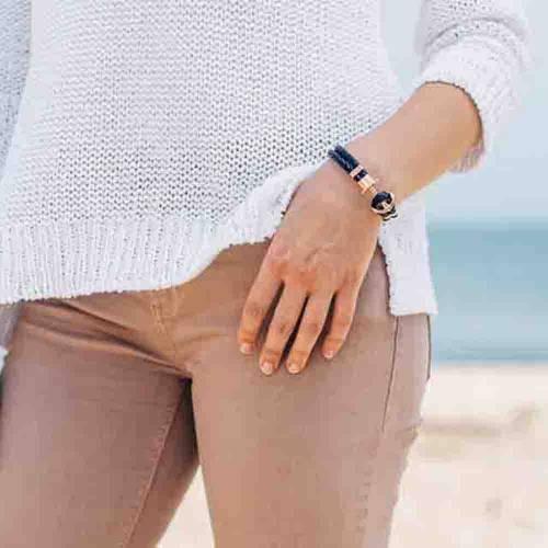 PHREP Leather Bracelet, Black/Rose Gold - Paul Hewitt