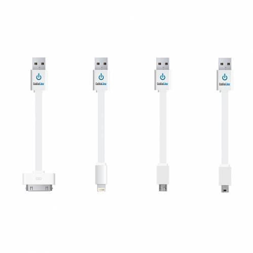 CableLinx Value Pack of 4 USB Charge&Sync Cables |ChargeHub