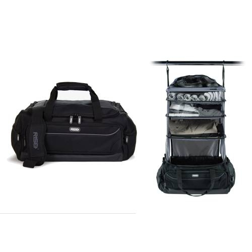 Weekender Duffle Bag, Black/Grey