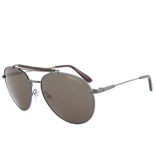 Tom Ford TF338 09N Colin Sunglasses | Gunmetal Frame | Grey